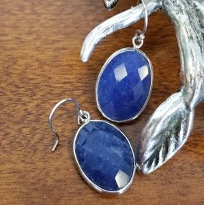 Jewelry - Indian sapphire and silver earrings